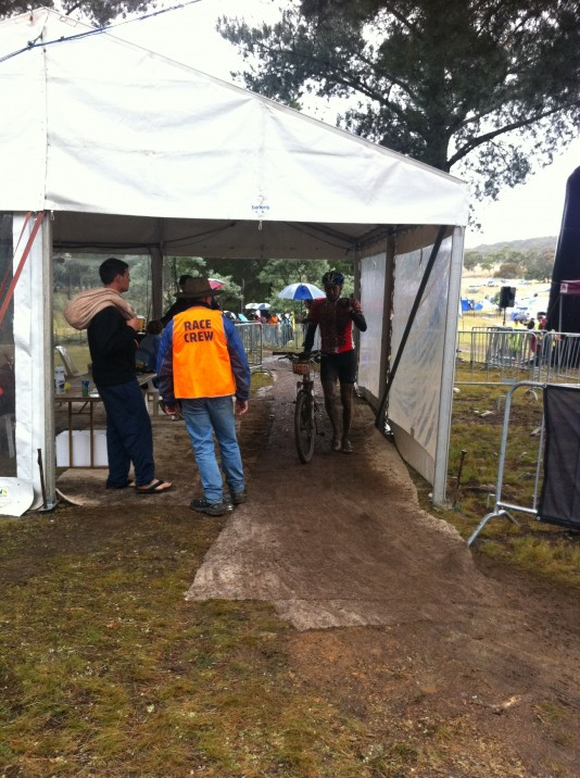 Walking through the timing gates... 24 hours done and dusted!