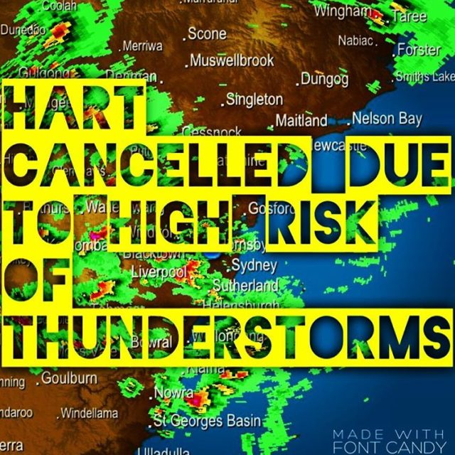 Sorry people HART is cancelled due to very wet conditionshellip
