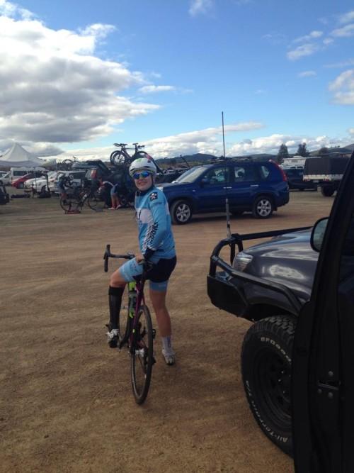 Alex at Canberra Women's Tour