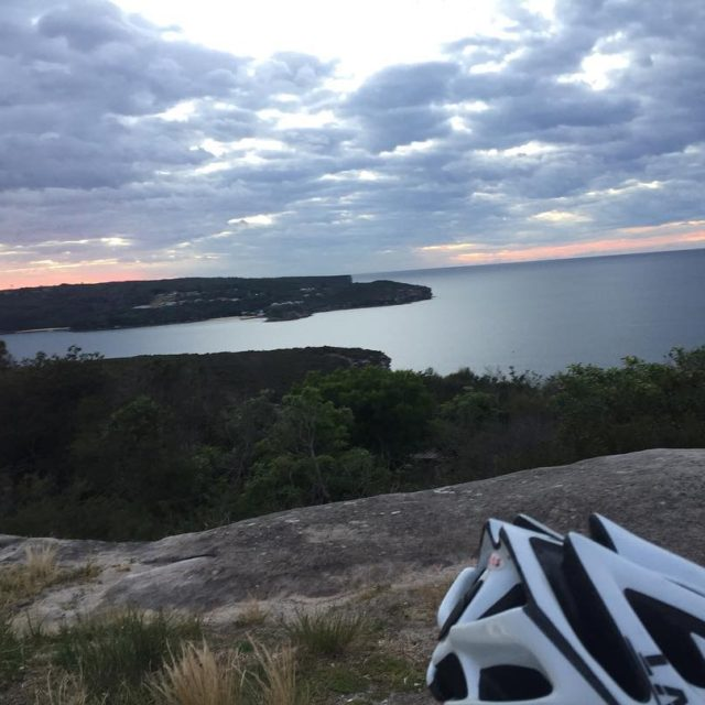 From whereiride looking out towards North Head Manly A smoothhellip