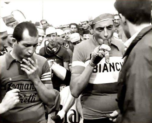 Fausto-Coppi-Gino-Bartali-Cigars-Toto-al-Giro-Italia