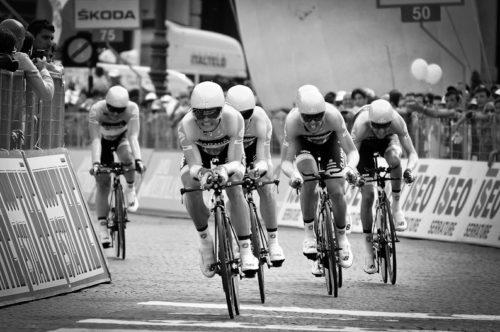 Gian Mattia D'Alberto - LaPresse 09 05 2012 Verona sport Giro d' Italia 2012 - quarta tappa cronometro a squadre nella foto: la Garmin, vincitrice di tappa Gian Mattia D'Alberto - LaPresse 09 05 2012 Verona Giro d' Italia 2012 - fourth stage team time trial in the photo: Garmin, the winner