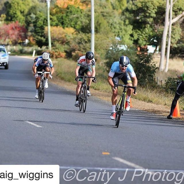 Craig Wiggins collects the stage win down at the Juniorhellip