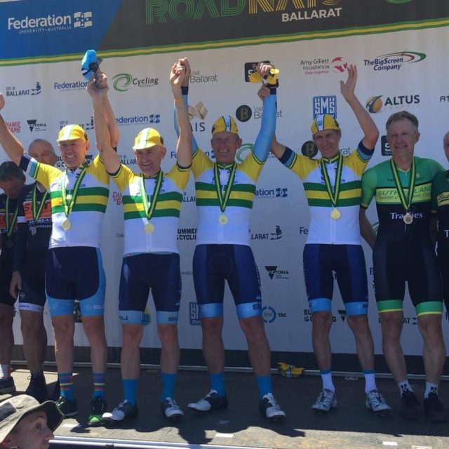 Gold in the Masters Club TTT at the Australian Nationalhellip